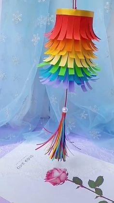 Paper Crafts Origami, Diy Crafts For Gifts, Paper Crafts For Kids, Diy Arts And Crafts, Craft Stick Crafts, Creative Crafts, Preschool Crafts, Fun Crafts, Diy Paper