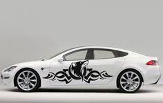 CAR SIDE VINYL DECAL ART STICKER GRAPHICS TRIBAL WOLF HEAD JK43 #Stickalz