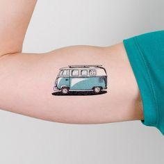 hippie tattoo 149111437632614306 - tattly – road trip Source by purehedonism Henna Tattoos, Vw Tattoo, Car Tattoos, Tattoo Trend, Temp Tattoo, Love Tattoos, Unique Tattoos, Body Art Tattoos, Tattoos For Guys