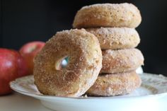 Baked Apple Cider Doughnuts (with reduced cider and apple butter) Baked Apple Cider Doughnuts, Baked Donuts, Apple Butter, Food Industry, Fruits And Veggies, Brunch Recipes, Fresh Fruit, Sweet Tooth, Sweet Treats