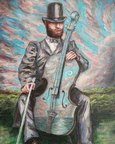 Cello, Paintings, Canvas, Instagram, Art, Tela, Art Background, Paint, Painting Art