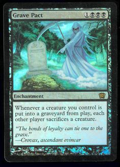 MTG Magic Foil Grave Pact x1  8th Edition   BB #WizardsoftheCoast