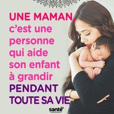 #citations #vie #amour #couple #amitié #bonheur #paix #esprit #santé #jeprendssoindemoi sur: www.santeplusmag.com Plus Belle Citation, Pregnancy Quotes, Follow Your Heart, Special Person, French Language, Mothers Love, Your Family, Vocabulary, Wise Words