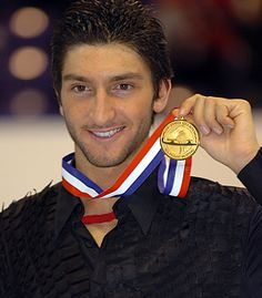 Evan Lysacek, Olympic figure skater & gold medalist...my cousins are figure skaters and one of them has danced on ice with him!!!