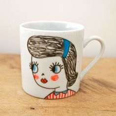 Hand painted espresso cup by jess quinn