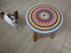 430. Krukje met gehaakte hoes - Crochet Stool Cover by Karin aan de haak, via Flickr