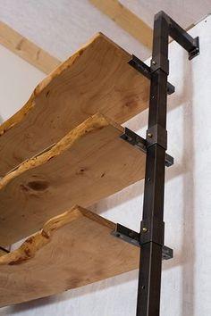 retro industrial style steel shelf