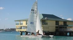 Sailing is a really big sport in #Barbados and the #Caribbean... Silver Bullet at Pebbles beach by Dippers/Cruising Club