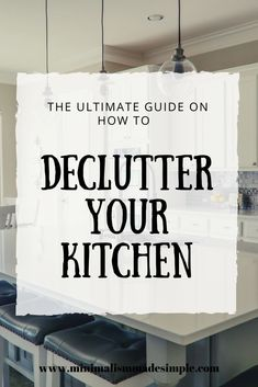 Minimalist Kitchen Declutter Learn how to declutter your kitchen with these decluttering kitchen ideas and tips. Get started today with a minimalist kitchen of your dreams, and keep only the necessary kitchen essentials while decluttering the rest. Declutter Bedroom, Declutter Your Home, Minimalist Living, Minimalist Decor, Minimalist Lifestyle, Under Kitchen Sink Organization, Kitchen Storage, Minimal Kitchen, Useful Life Hacks