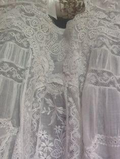 Gorgeous antique lace dress!