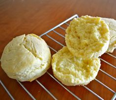 almond flour biscuits made with the traditional cold cut-in butter method...needs a little more liquid
