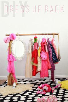 kids clothes rack diy a beautiful mess basement pinterest kids clothing beautiful and. Black Bedroom Furniture Sets. Home Design Ideas