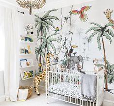 Baby Room Jungle Wallpaper 54 Ideas For 2019 Baby Bedroom, Baby Room Decor, Kids Bedroom, Nursery Themes, Nursery Decor, Themed Nursery, Nursery Ideas, Rustic Nursery, Playroom Decor