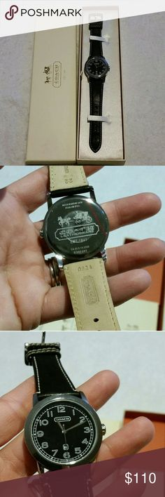 coach men outlet online sh24  Coach Men's Leather Watch Brand new Coach, watch Bought for my husband but  he
