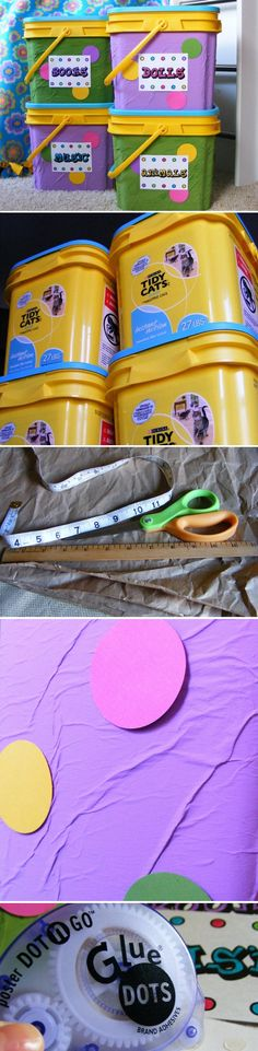 DIY Upcycled Toy Storage Containers