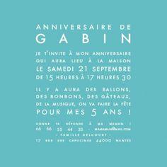 carte d'anniversaire justifié photo (recto /verso, 13 x 13 cm) by Sibylle Derkenne pour www.fairepartnaissance.fr #carte #invitation #anniversaire