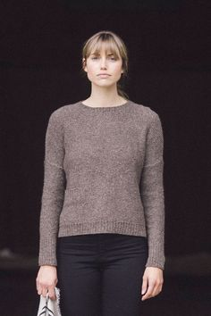oak pullover by pam allen / from plain & simple: 11 knits to wear every day / in quince & co. owl, color papuan