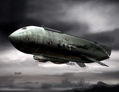 Steampunk+Concept+Art+Airship | Airship Concept Art - One of Various Concept Art Choices