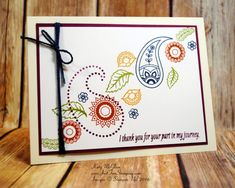 Paisleys & Posies, Stampin' Up!, Thankful