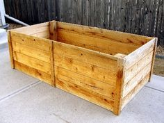 Raised Garden Beds | Do It Yourself Home Projects from Ana White - 1x6 cedar fence boards. The length is a whole board, so about 6 ft long, width is a board cut in half, so about 3 feet wide. And four boards high, so about 2 feet tall.