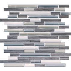 Bamboo Storm Glass Tile Mosaic $8.99 s/f