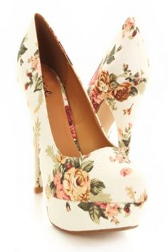 continuing my search for the perfect floral heel
