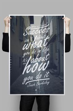 What is Success? Typography Quote by Joash Berkeley