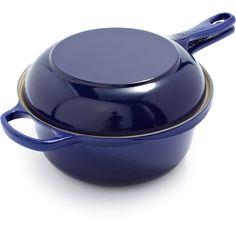 Le Creuset Indigo Two-in-One Pan | Sur La Table