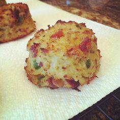 Cauliflower Biscuits with Bacon & Jalapeño {Paleo} #JustJessieB