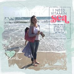 I Need Vitamin Sea #designerdigitals #digital scrapbooking pages # SouthBeach…