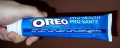 Oreo Flavored Toothpaste - not sure about this one.