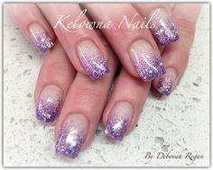 Glitter Nail Art Step by Step Tutorial Purple Glitter Nails, Sparkle Nails, Glitter Nail Art, Fancy Nails, Cute Nails, Gem Nails, Shellac Nails, Hair And Nails, Acrylic Nails