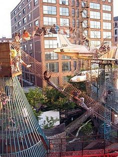 City Museum In St. Louis...basically an adult jungle gym...@Mallory Puentes Jo we NEED to go here!!!!