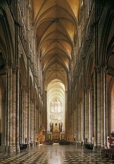 Amiens Cathedral, nave begun 1220-47.
