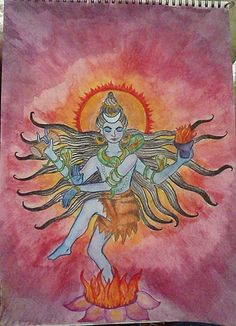 Shiva....and many more chalkboard drawings.