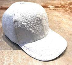 0194809f5ace7a All-Over Handmade White Crocodile & Ostrich Quill Strapback Hat - Dudes  Boutique Strapback Hats