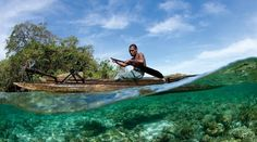 crystal clear water of papa new guinea