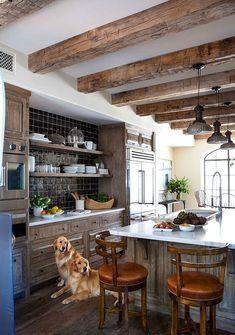 Wood beam ceiling kitchen older home remodeling ideas with roy. Home Kitchens, Wood Kitchen, Wood Kitchen Cabinets, Rustic Kitchen, Kitchen Remodel, Kitchen Design, Home Decor Kitchen, Wood Beam Ceiling, Home Decor