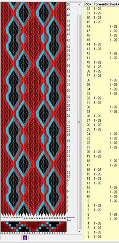 26 tarjetas, 5 colores, secuencias 4F-2B-2F-4B // sed_334 diseñado en GTT༺❁