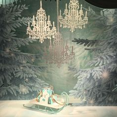 Tiffany window display. Winter wonderland.