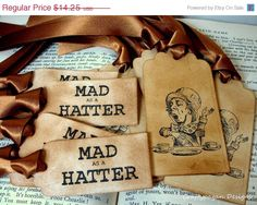 Mad Hatter Favor Tags