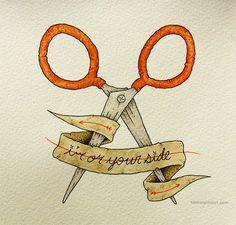 i'm on your side. by clint reid.  Moonrise kingdom tat idea