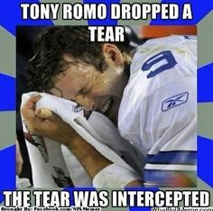 Tony Romo - poor baby...