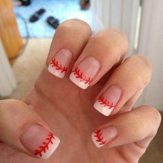 Baseball nails..I will need these for my boys in baseball season!!