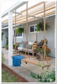 Patio Ideas – Summer has actually ultimately arrived. Right here are patio i… – Garten – Balcony Backyard Landscaping, Pergola Patio, Pergola Kits, Pergola Ideas, Pergola Swing, Patio Seating, Garden Seating, White Pergola, Backyard Patio Designs