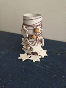DreamsandCraft: Un cielo pieno di stelle e l'argilla secca. Garland of stars made with dry clay.