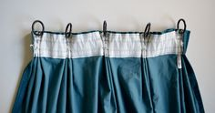 HOW TO MAKE TRIPLE PINCH (FRENCH) PLEAT CURTAINS USING IKEA HARDWARE