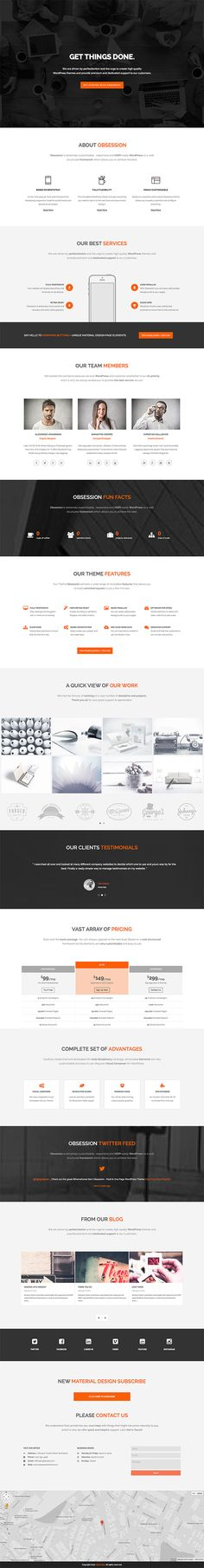 Obsession - Material Design WordPress Theme on Behance