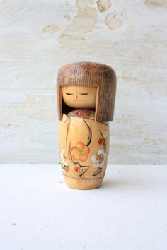 Vintage wooden geisha. #japanese, #culture