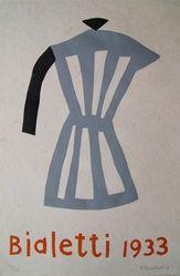 Klaas Gubbels houtdruk 'Bialetti' uit 2010 Grafiek houtdruk van Klaas Gubbels uit de serie cijfers en letters. Het werk is gesigneerd en genummerd Afmetingen: 60 x 40 cm Oplage: 40 stuks